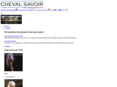 Cheval Savoir - votre mensuel équestre en ligne