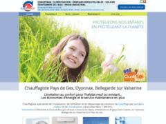 Création du site Internet de Clim'Monnier (Entreprise de Chauffagiste à MONTREAL LA CLUSE )