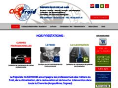 Création du site Internet de CLIMEFROID (Entreprise de Chauffagiste à CLAIX )