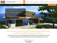 Création du site Internet de Activ Travaux - Atlantic Déco & Travaux (Entreprise de Courtier en travaux à ST- SEBASTIEN -SUR- LOIRE )