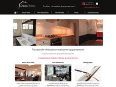 Création du site Internet de CREATIV' RENOV (Entreprise de Cuisiniste à SAINT-LEU-LA-FORET )