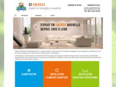 Création du site Internet de CS ENERGIES (Entreprise de Chauffagiste à SAINTE FOY LES LYON )