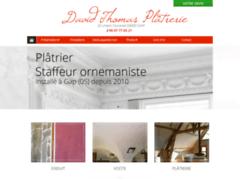 Création du site Internet de David Thomas Plâtrerie (Entreprise de Platrier à LES COSTES )