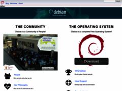 Robothumb : www.debian.org