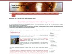 Cécile Rojat, Dentiste équin diplômée