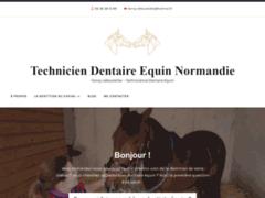 Emmanuelle Carlin, dentiste équin