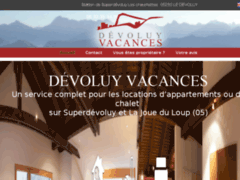 Création du site Internet de DÉVOLUY VACANCES (Entreprise de Entreprise de nettoyage à LE DEVOLUY )