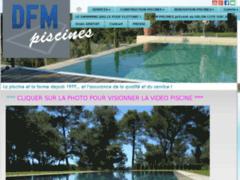 Création du site Internet de DFM PISCINES (Entreprise de Piscine à AIX EN PROVENCE )