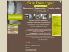 Création du site Internet de DOMERGUE Eric (Entreprise de Maçon à LE POUJOL SUR ORB )