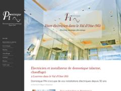 Création du site Internet de PIN Dominique (Entreprise de Electricien à LOUVRES )