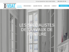 Création du site Internet de D VBAT (Entreprise de Peintre à SAINT DENIS )