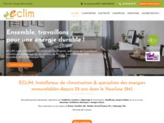 Création du site Internet de ECLIM (Entreprise de Chauffagiste à PERTUIS )