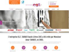 Création du site Internet de EGT TAHRATI (Entreprise de Electricien à BRON )