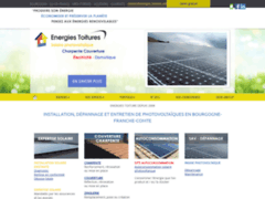 Création du site Internet de Energies Toitures (Entreprise de Production d'électricité à CHEVIGNY-SAINT-SAUVEUR )