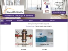 Création du site Internet de Ets ANCIAN & Co (Entreprise de Plombier à PARIS )