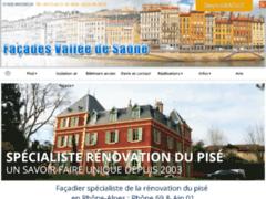 Création du site Internet de Façades Vallée de Saône (Entreprise de Façadier à MASSIEUX )