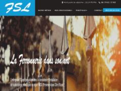 Création du site Internet de F.S.L. (Entreprise de Entreprise de clôture à PEYPIN )
