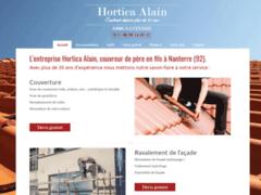 Création du site Internet de Hortica Alain (Entreprise de Couvreur à NANTERRE  )