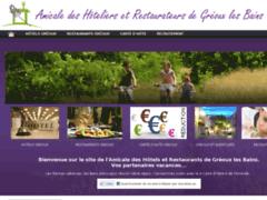 Création du site Internet de Amicale des Hôtels Restaurants de Gréoux les Bains (Entreprise de Hôtel à GREOUX LES BAINS )