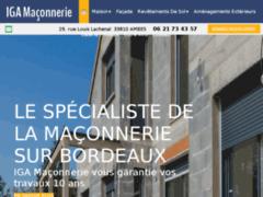 Création du site Internet de IGA Maçonnerie  (Entreprise de Entreprise générale à AMBES )