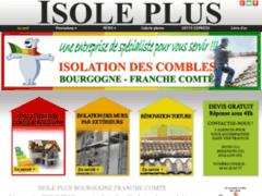 Création du site Internet de ISOLE + (Entreprise de Isolation à MARSANNAY LA COTE )