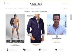 Kadice : chemise slim fit homme