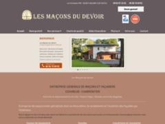 Création du site Internet de LES MAÇONS DU DEVOIR (Entreprise de Façadier à FLASSANS-SUR-ISSOLE )