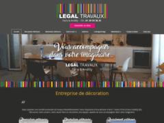 Création du site Internet de LEGAL TRAVAUX (Entreprise de Peintre à PARIS )