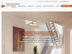 Création du site Internet de SMPL Rénodéco  (Entreprise de Peintre à ROANNE )