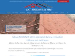 Création du site Internet de MARONNE ET FILS (Entreprise de Couvreur à OZOIR-LA-FERRIERE )
