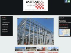 Création du site Internet de METAL CONCEPT (Entreprise de Bureau d'études à LA SEAUVE SUR SEMENE )