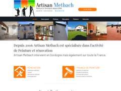 Création du site Internet de Artisan Metbach  (Entreprise de Peintre à PAZAYAC )