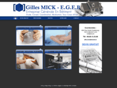 Création du site Internet de Gilles MICK    E.G.E.B. (Entreprise de Entreprise générale à MAGNY LES HAMEAUX )