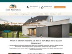 Création du site Internet de Multi renovation (Entreprise de Peintre à ALBI )