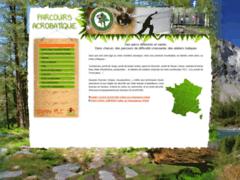 Création du site Internet de PARCOURS ACROBATIQUE EN FORET (Entreprise de Parcs d'attractions et de loisirs à GAP )