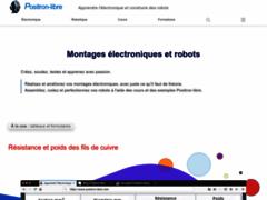 Détails : Cours et montage électronique de Positron libre