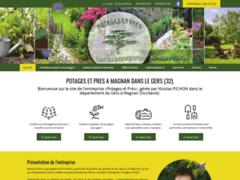 Création du site Internet de POTAGES et PRES (Entreprise de Paysagiste à MAGNAN )