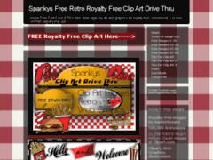 Spankys Free Retro Clip Art Drive Thru