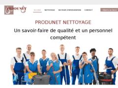 Création du site Internet de PRODUNET NETTOYAGE (Entreprise de Entreprise de nettoyage à STRASBOURG )