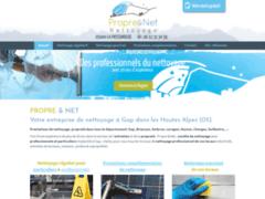 Création du site Internet de PROPRE & NET (Entreprise de Entreprise de nettoyage à GAP )