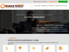Création du site Internet de Damour Habitat (Entreprise de Courtier en travaux à PARIS )