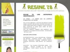 Création du site Internet de Résine 78 (Entreprise de Carreleur à MEULAN )