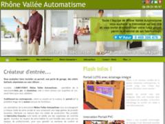 Création du site Internet de Rhône Vallée Automatisme (Entreprise de Menuisier à SAINT PERAY )