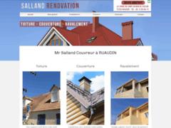 Création du site Internet de SALLAND RENOVATION (Entreprise de Couvreur à RUAUDIN )