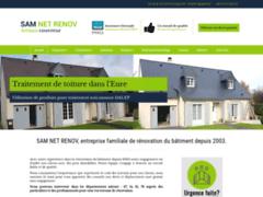 Création du site Internet de SAM NET RENOV (Entreprise de Couvreur à BERNAY )