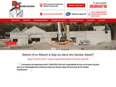 Création du site Internet de SAVY CONSTRUCTION (Entreprise de Maçon à PELLEAUTIER )