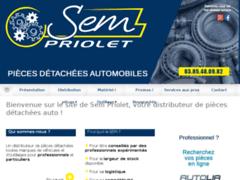 Création du site Internet de SEM Priolet (Entreprise de Distribution de pièces automobile à CHALON-SUR-SAÔNE )