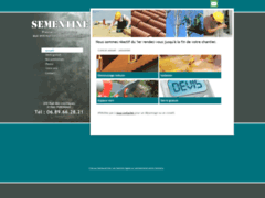 Création du site Internet de Sementine (Entreprise de Jardinier à PERONNAS )