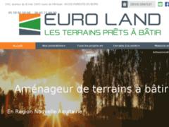 Création du site Internet de Euro Land (Entreprise de Expert à PARENTIS EN BORN )