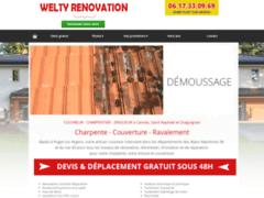 Création du site Internet de Artisan Welty (Entreprise de Couvreur à PUGET SUR ARGENS )